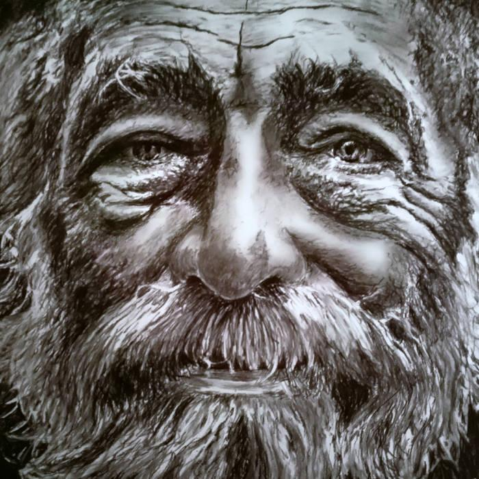 Charcoal on board, 80 cm x 80 cm